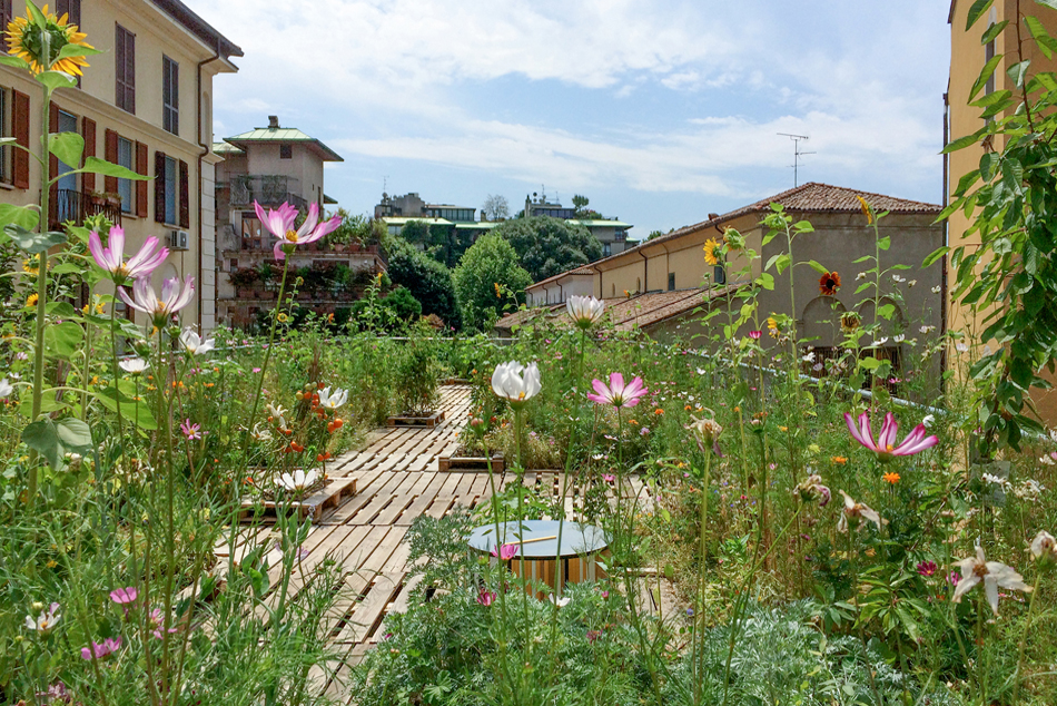 Piuarch's rooftop garden opens for Open House Milan 2018